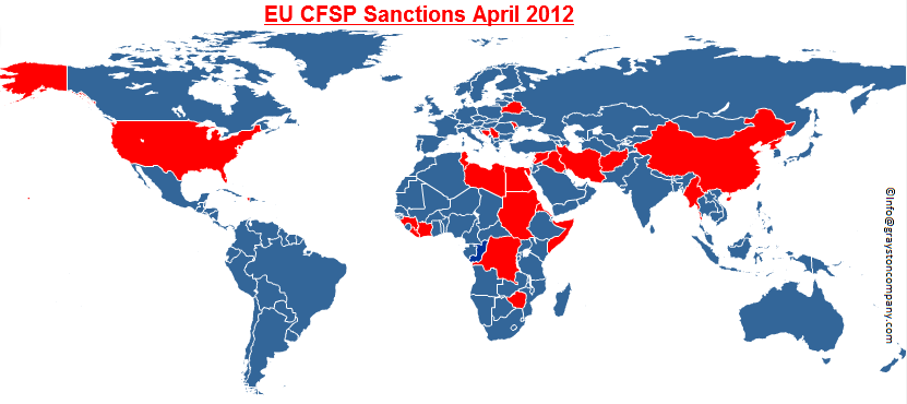 EU CFSP Sanctions Map