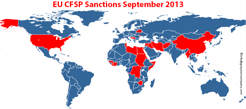 EU CFSP Sanctions Map 2013
